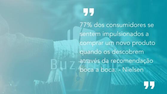 marketing boca a boca funciona: 77% dos consumidores se sentem impulsionados a comprar quando recebem uma recomendação
