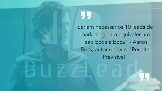 frase do aaron roos, autor do receita previsível sobre marketing boca a boca funciona