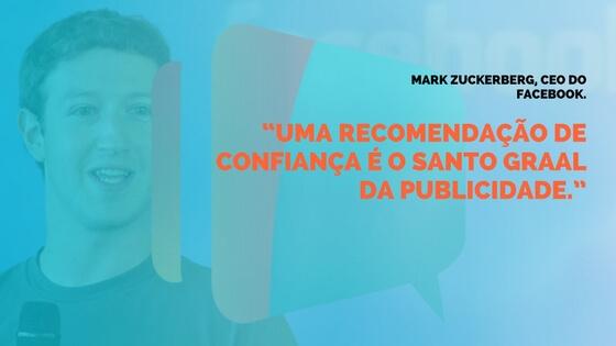 Frase do Mark Zuckerberg sobre Prospecção de Clientes