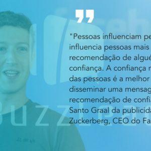 frase do Mark Zuckerberg CEO do Facebook sobre marketing boca a boca